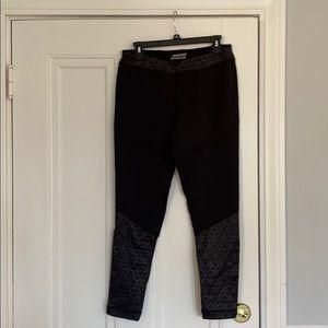 Outdoor winter fleece lined running pants